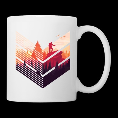 Hiking Tee Shirt Gift for men and women - Coffee/Tea Mug