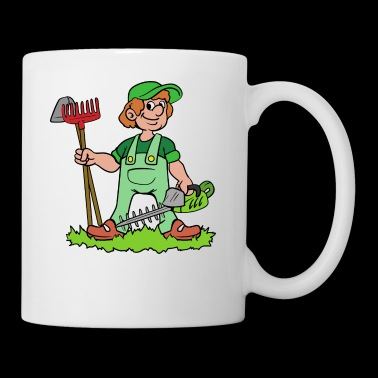 Garden Gardener Gardening Hedge Clippers Rake - Coffee/Tea Mug
