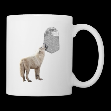 Wolf Howling To Moon In Your Fake Pocket Funny - Coffee/Tea Mug