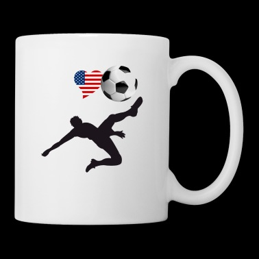 i Love Soccer America Ball goal Club Sport - Coffee/Tea Mug