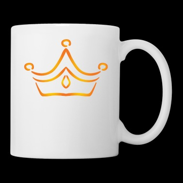 Vip golden crown logo monarch king vector image - Coffee/Tea Mug