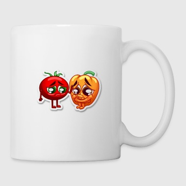 pepper and tomato sad - Coffee/Tea Mug