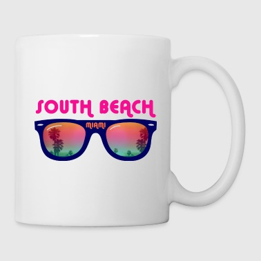 South Beach Miami sunglasses - Coffee/Tea Mug