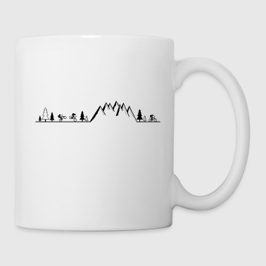 mountain bike MTB cycling mountain biker - Coffee/Tea Mug
