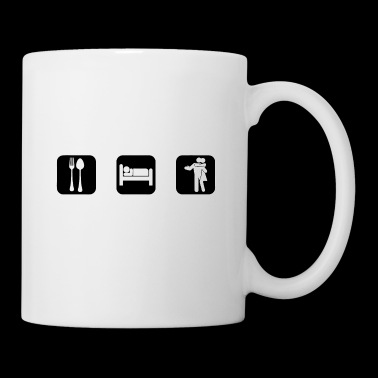 Eat Sleep kizomba White Logo - Coffee/Tea Mug