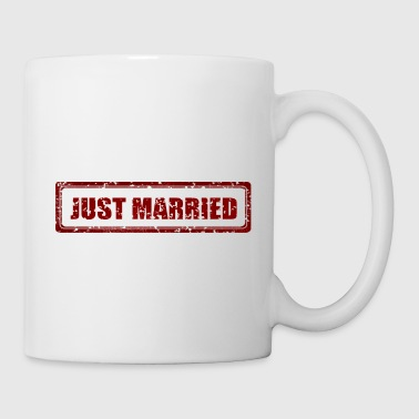 Just Married Marriage Stamp Gift Present - Coffee/Tea Mug