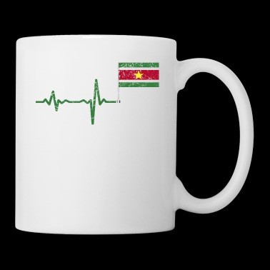 Heartbeat Surinam flag gift - Coffee/Tea Mug