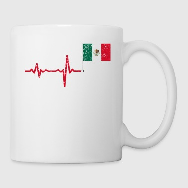 Heartbeat Mexico flag gift - Coffee/Tea Mug