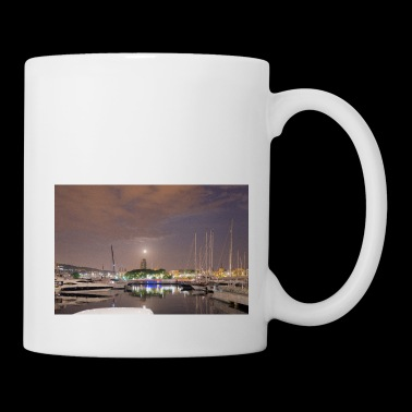 Barcelona harbour at night - Coffee/Tea Mug