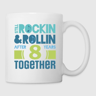 8th Anniversary Funny Couples Gift - Coffee/Tea Mug