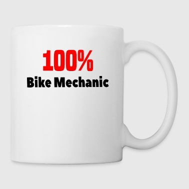 100% Bike Mechanic T-Shirt gift - Coffee/Tea Mug