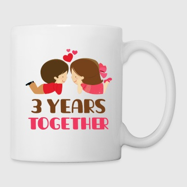 3rd Anniversary Gift 3 Years Together - Coffee/Tea Mug