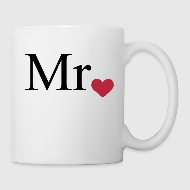 Mr with heart dot (Mr and Mrs set) - Coffee/Tea Mug
