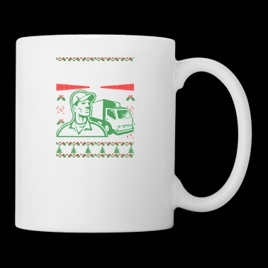 Truck Driver Ugly Christmas Sweater - Coffee/Tea Mug
