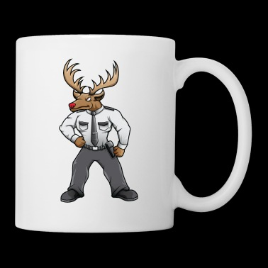 Security deer with red nose - Coffee/Tea Mug
