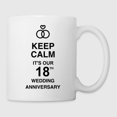 Marriage Mariage Wedding Anniversary 18 18th - Coffee/Tea Mug