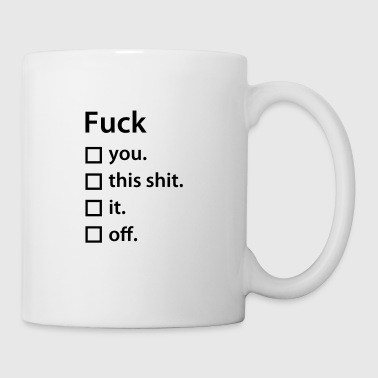 Fuck list - Coffee/Tea Mug