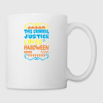 This Criminal Justice Loves 31st Oct Halloween - Coffee/Tea Mug