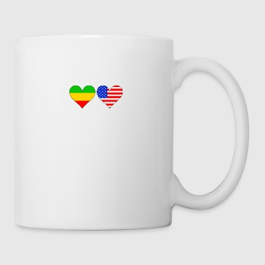 Ethiopian American Hearts - Coffee/Tea Mug