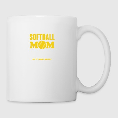 Softball Mom I Suppose I Could Be Quieter T Shirt - Coffee/Tea Mug