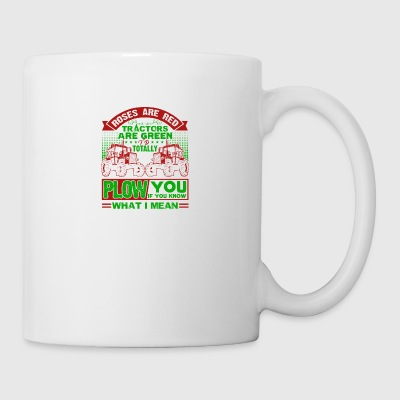 Farmer Roes Are Red Tractor Are Green Shirt - Coffee/Tea Mug