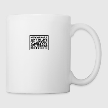 friedrich nietzsche famous quote - Coffee/Tea Mug