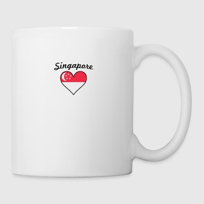 Singapore Flag Heart - Coffee/Tea Mug