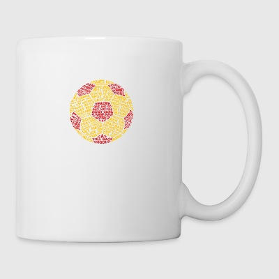Soccer Ball Typography - Coffee/Tea Mug