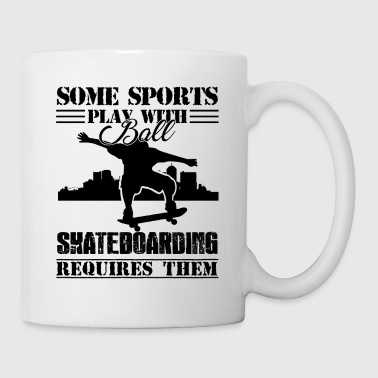 Play With Ball Skateboarding Requires Mugs - Coffee/Tea Mug