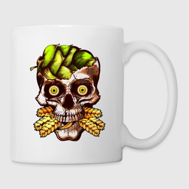 Hop Brained Skull - Coffee/Tea Mug