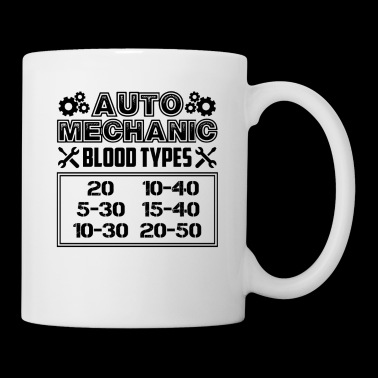 Auto Mechanic Blood Types Mug - Coffee/Tea Mug