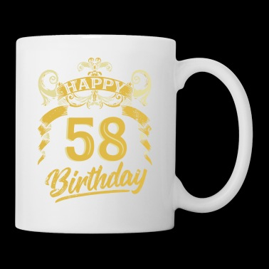 58 Years Birthday Happy Bday Birthday Gift Present - Coffee/Tea Mug