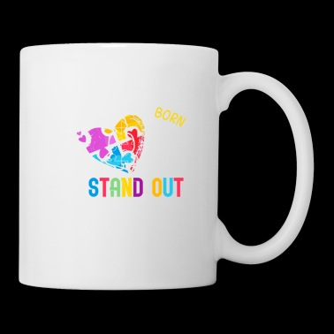 Why fit in when you were born to stand out funny shirts gifts - Coffee/Tea Mug