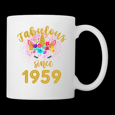 Fabulous Unicorn Birthday Shirt Old BDay Since 1959 funny shirts gifts - Coffee/Tea Mug