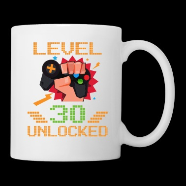 Level 30 Unlocked Gamer Old Birthday Party funny shirts gifts - Coffee/Tea Mug