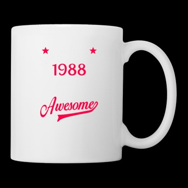 Womens 30th Birthday T-Shirt Vintage 1988 30 Years Of Awesome Tee - Coffee/Tea Mug