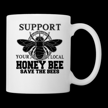 Support Local Honey Bees Retro Design - Coffee/Tea Mug