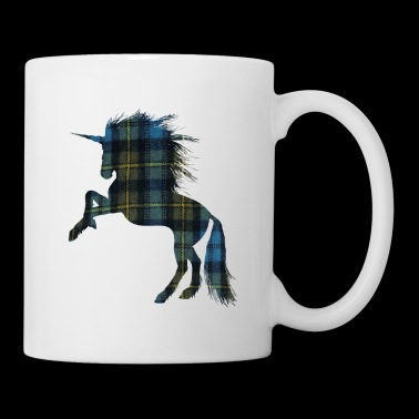 Tartan T-shirt for the Proud Scot Unicorn Plaid Sh - Coffee/Tea Mug