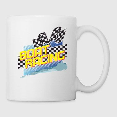 Boat Racing Shirt Love Motorboat Speed Boat Racing Shirt Flags Waves - Coffee/Tea Mug