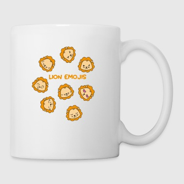Cute Little Lion Emojis Shirts & Gifts - Coffee/Tea Mug