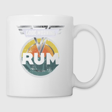 Funny Rum Drinking Shirt Good Morning Rum Shirt Drinks Well With Others Shirt - Coffee/Tea Mug