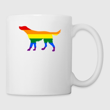 Proud Dad Rainbow Flag Irish Setter Rainbow LGBT Flag - Coffee/Tea Mug