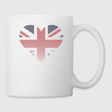 British Flag Rhinestuds Heart United Kingdom Union - Coffee/Tea Mug