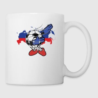 Dabbing Soccer Ball Russia Team Fan girl Flag gift - Coffee/Tea Mug