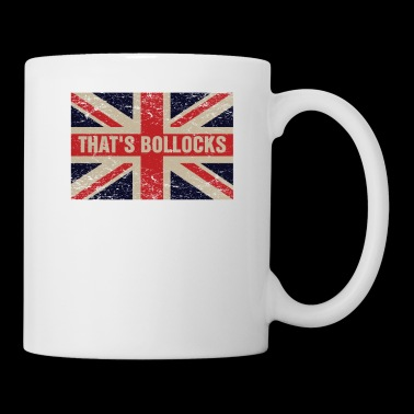 That's bollocks On Britain Flag Funny UK English - Coffee/Tea Mug