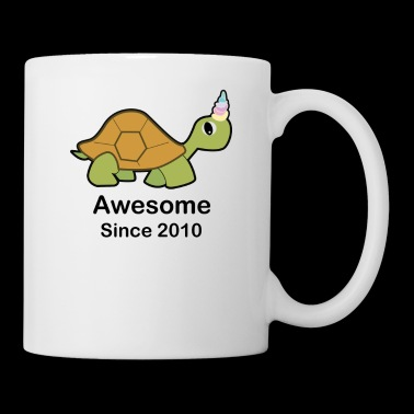 Awesome Turtlecorn Turtle fun 8th birthday gift - Coffee/Tea Mug