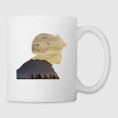 Crew Chief Silhouette with Mount Rainier - Coffee/Tea Mug