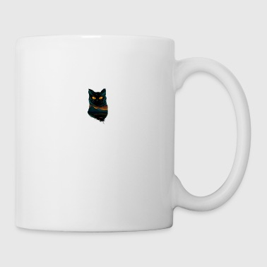 black cat T Shirt - Coffee/Tea Mug