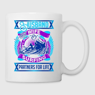 Husband And Wife Surfing Partners For Life - Coffee/Tea Mug