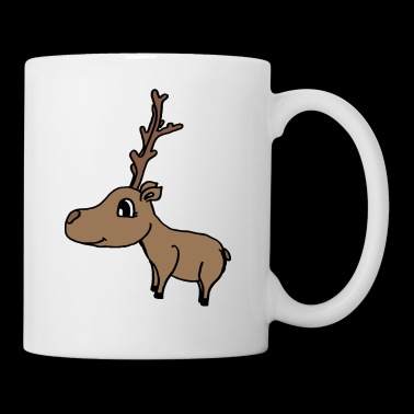 sweet deer with a big antler , sweet gift idea - Coffee/Tea Mug